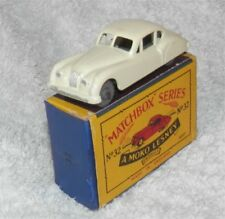 1950s.LESNEY.MATCHBOX.32.Jaguar.XK 140.Grey plastic WHEELS..Mint in box.original