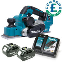 Makita DKP181 18V LXT 82mm Brushless Planer With 2 x 6.0Ah Batteries & Charger