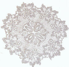 Lace Doilies Savoy 13 Inch Round Silver Lame Doilies Set Of (2) Oxford House