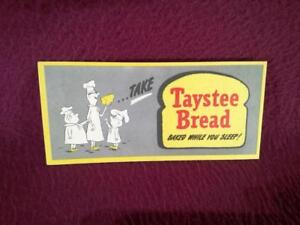 "#3 HO/S/O SCALE TAYSTEE BREAD BILLBOARD - BAKED WHILE YOU SLEEP - 4.5"""