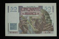 50 francs LE VERRIER;émis le 1.2.1951,FAY 20/17;ETAT NEUF