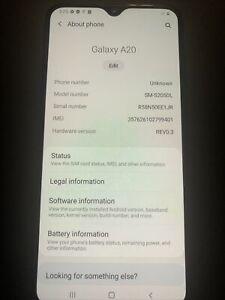 Samsung Galaxy A20 SM-S205DL 32gb Tracfone - Charcoal Grey