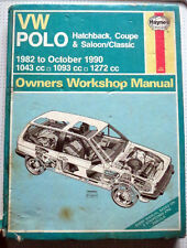 HAYNES MANUAL FOR VW POLO 1982 TO 1990