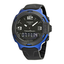 Tissot T-Race Touch Black Dial Black Rubber Mens Watch T0814209705700