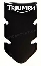 TRIUMPH TANK PAD * AWESOME NEW BLACK TANKPAD 3D for TRIUMPH MOTORCYCLE 2020