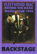 Fleetwood Mac 1990 Behind Mask Concert Tour Backstage Pass! Authentic Otto #3