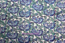 Hand Block Print 10 Yard Fabric, 100% Cotton and Natural Color fabric VNDL