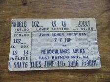 Zz Top w/The Del Fuegos Afterburner Tour Meadowlands Arena N.J. Ticket Stub