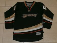 ANAHEIM DUCKS #14 STUART NHL BLACK HOCKEY JERSEY REEBOK REGULAR SEASON BOYS L/XL