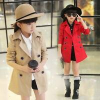 Girls Trench Coats Fashion Kids Windbreaker Girl Jacket Teenager Child Outerwear
