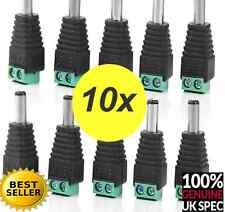 10x DC Power Male Cable Adaptor Plug Jack Wire Connector for CCtv n 12volt