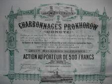 Russland: Charbonnages Prokhorow Donetz   1895  DEKO