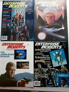 4 issues Enterprise Incidents magazine V the Visitors Ghostbusters James Bond