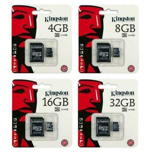 KINGSTON Micro SD 32GB 64GB 128GB Class 10 SDHC SDXC Memory Card & Adapter