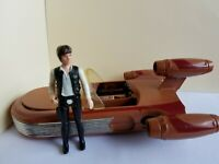 VINTAGE STAR WARS 1978 LANDSPEEDER with Han Solo vintage Action figure