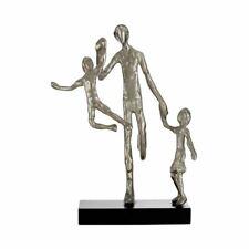 Premier Housewares Complementi Alluminio MDF Argento Famiglia Statuina Scultura