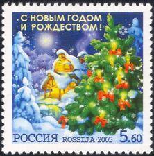 Russia 2005 Natale/Capodanno/Saluti/ALBERO/Candele/House/Stella 1 V (n44663)