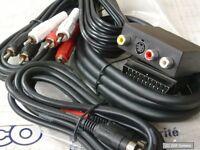 Vivanco Videoset 5-tlg Cabel Kabel Chinch, Scart, SVHS, Video Audio Adapter, 2m
