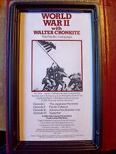 World War 2 with Walter Cronkite 15 VHS Tape Set