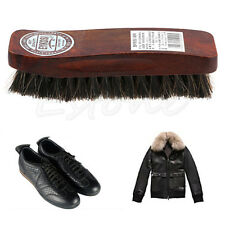 Professional Wooden Handle Horse Hair Bristle Boot Shoes Shine Buffing Brush