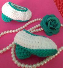 Patucos Flamencos Bebe Tacon Baile Sevillanas Recién Nacidos Crochet Ganchillo