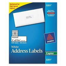 Avery White Mailing Labels For Copiers - 5351