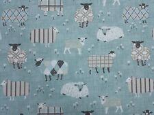 iLiv Baa Baa Sheep Duckegg Curtain Craft Upholstery Designer Fabric