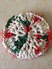 Crochet Dish Cloth And Scrubby - Christmas With Scrubby Yarn