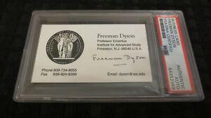 Freeman Dyson (dec)  physicist signed autographed psa slabbed business card