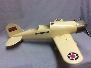 """SteelCraft Vintage 1930's """"Lockheed Sirius"""" Pressed Steel Airplane  would"""