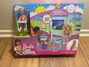 Barbie Club Chelsea School Playset Classroom Lunch Cafeteria Playground Kids Toy