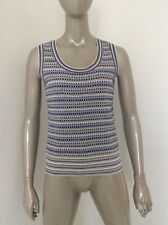 St. John Sport Petite Wool Rayon Pastel Colorful Knit Top Cami Shell Tank
