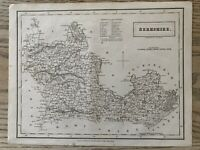 1833 BERKSHIRE ORIGINAL ANTIQUE COUNTY MAP BY SIDNEY HALL 186 YEARS OLD