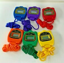 Champion Sports LCD Digital Display Stopwatch Choose Colors 2012 Lanyard Running