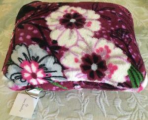 Vera Bradley Fleece Travel Blanket - Bordeaux Meadow - NWT