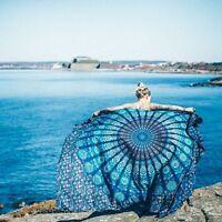 Doppelbett Rond Mandala Goa Oriental Queen-Tagesdecke Tapestry Blau Wandbehang