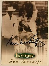 1995 FUTERA HERITAGE CRICKET COLLECTION CARD N0 40/60 SIGNED IAN MECKIFF