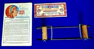 Vintage CRAFT Instruction Booklet and Loom and Bead Packaging