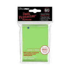 60 1pk ULTRA-PRO Small Mini Size Card Sleeves Deck Protector 84100 Lime Green