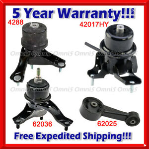 N029 Fits 2008-2012 Toyota Avalon 3.5L w/ AUTO Engine Motor & Trans Mount set