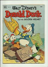 "FOUR COLOR #408 ""DONALD DUCK AND THE GOLDEN HELMET 1952  DELL  BARKS"