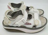 MBT Women's Walking Toning Sandal size 7 Kisumu White C Leather