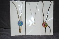 Coin Necklace 1952 Plated Cent 2 Bolo Ties and a Canadian