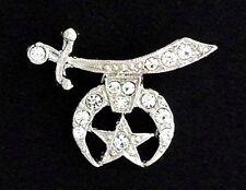 Masonic Shrine  Lapel Pin With Stones (Large) SPT3357