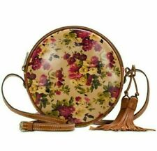 Nwt 🌺 Patricia Nash Scafati Canteen Round Purse Crossbody Antique Rose