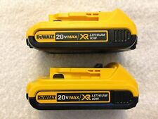 2 New Dewalt DCB203 20V Max XR Batteries 2.0Ah Lithium Ion Li-Ion 20 Volt
