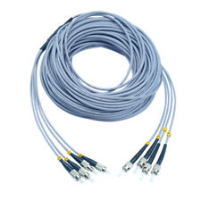 300M FC-ST Indoor Armored Fiber Cable Multi-Mode 4 Strand Fiber Optic Patch Cord