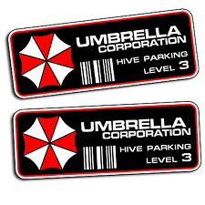 Umbrella Corporation Hive Parking Level 3 Resident Evil Vinyl Decal Sticker PAIR