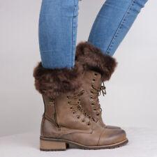 Women Snow Boot Stocking Faux Fur Fleece Liners Socks Fluffy Furry Leg Warmers