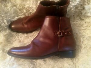 Daniel Footwear Dark Tan Leather Ankle Riding style boots size UK 6